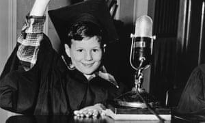 Joel Kupperman, aged six, appearing on Quiz Kids in 1942.
