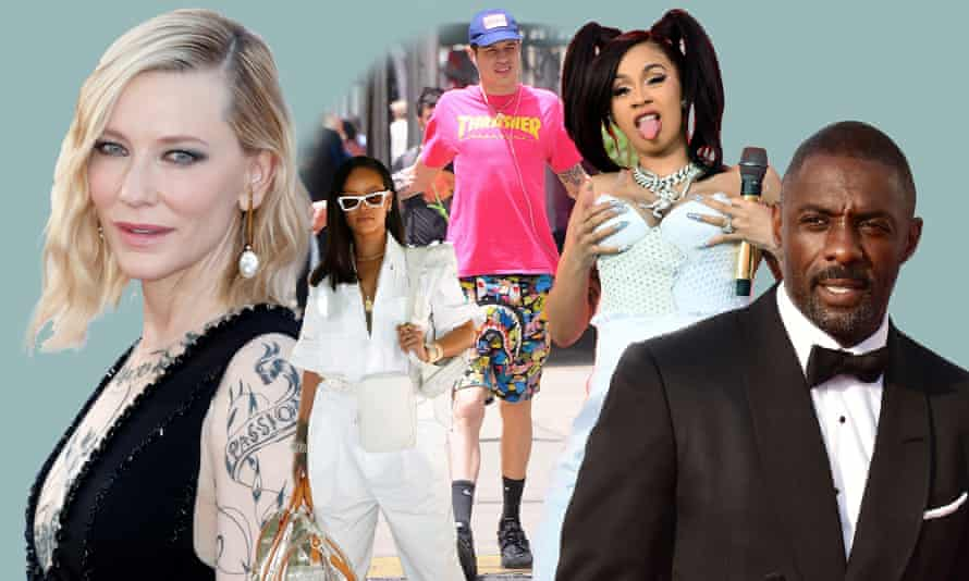 Celebrities deemed to possess 'big dick energy': (L-R) Cate Blanchett, Rihanna, Pete Davidson, Cardi B and Idris Elba.