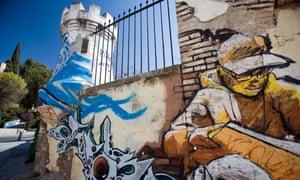 Street art of El Niño de las Pinturas, Granada, Spain