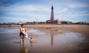 Sweltering in Blackpool as temperatures soared on 19 June 2017.