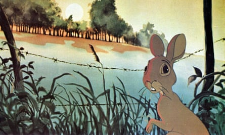 A still from the film version of Watership Down.