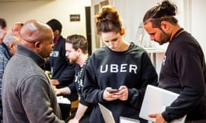 Uber's London driver service centre. Mick Rix of the GMB said Uber was 'acting with impunity'.