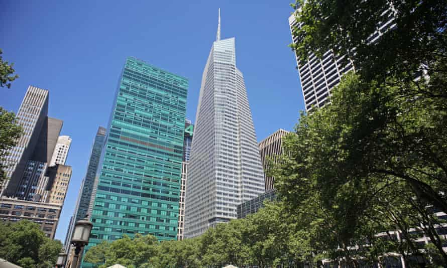 The Bank of America Tower at One Bryant Park in New York is the first commercial skyscraper in the US to achieve a platinum Leed certification.