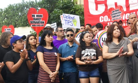 Young immigrants and supporters rally in support of Deferred Action for Childhood Arrivals in Los Angeles.