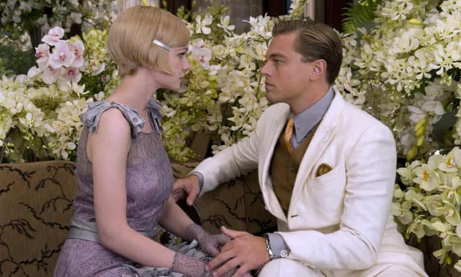 Carey Mulligan as Daisy Buchanan with Leonardo DiCaprio as Jay Gatsby in Baz Luhrmann's 2013 adaptation of The Great Gatsby.