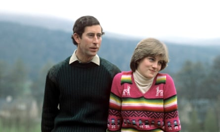 Diana with Charles (and white polo neck) in 1981.