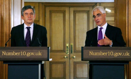 Gordon Brown and Alistair Darling during the financial crisis in 2008.