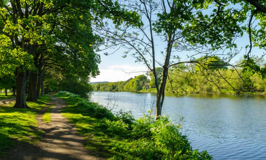 A riverside route on the River Tyne at Hexham.