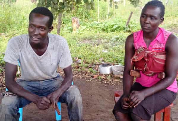 Christine Lamwaka and her husband Solomon Olum