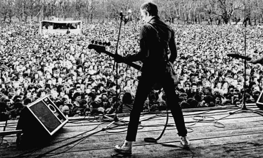 The Clash at Rock Against Racism's 1978 gig in Victoria Park, east London, featured in White Riot.