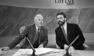 Gay Byrne and Gerry Adams on The Late Late Show in 1994.