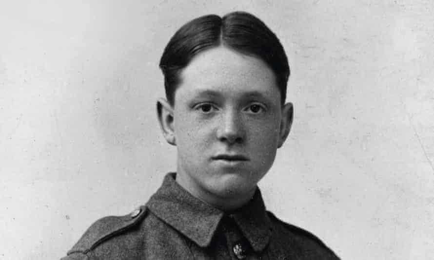 The young David Jones in battle gear