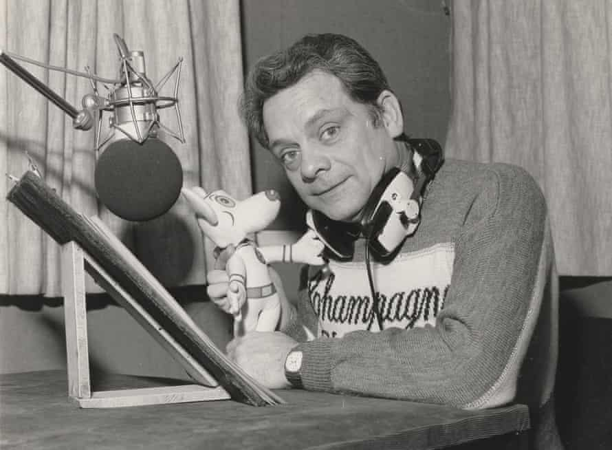 'We were getting paid to enjoy ourselves' … David Jason in the recording studio, with a Danger Mouse toy.