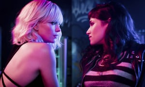 Charlize Theron and Sofia Boutella in Atomic Blonde.