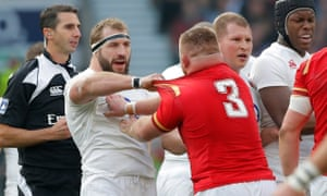 Joe Marler, left, admits he used to be in his element when England played away games with Wales.