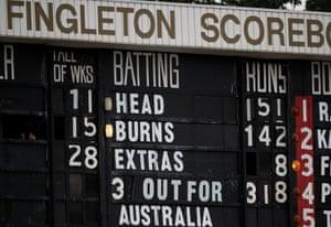 The Jack Fingleton Scoreboard is a feature of the latest Test venue.