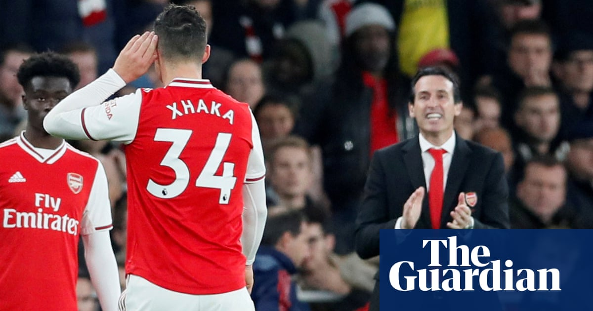 Xhaka is devastated and sad, says Emery after display of anger at fans – video