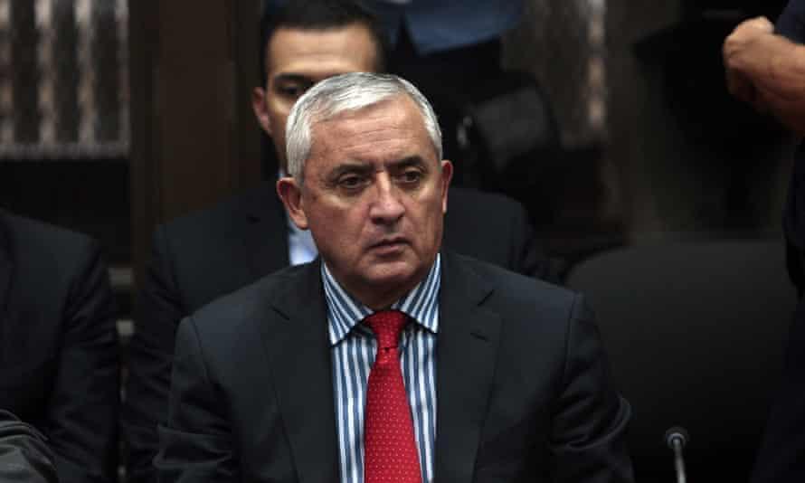 President Otto Pérez Molina attends court in Guatemala City on Thursday.