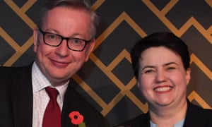 Michael Gove and Ruth Davidson at an awards ceremony in November 2017.