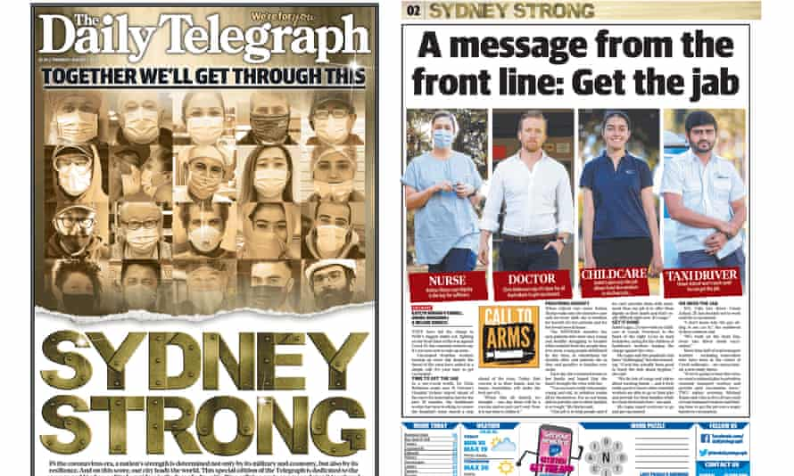 The Daily Telegraph Page 1 and 2. 5th July 2021.