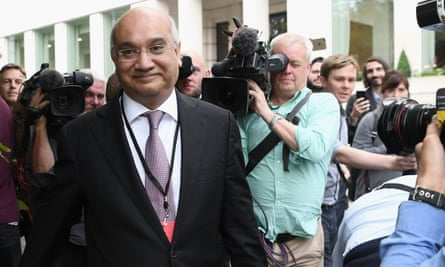 Keith Vaz smiles as he enters a meeting