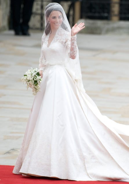 The Duchess of Cambridge arriving for her wedding at Westminster Abbey on 29 April 2011