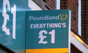 a poundland sign