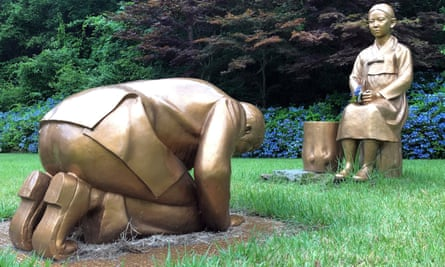 The statues are in the Korea Botanic Garden in Pyeongchang, 180km east of Seoul.