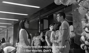 A scene from Roma, with English subtitles