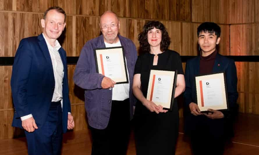 Alongside Andrew Marr, Ian Patterson and Sinéad Morrissey after winning a Forward prize in 2017.