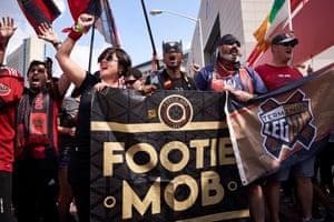 Footie Mob get rowdy.