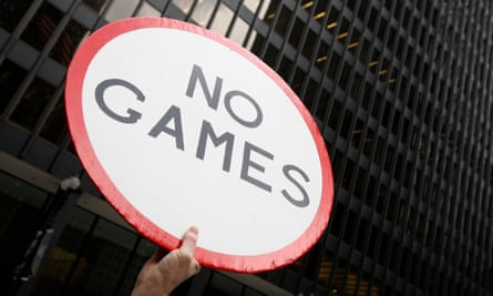 A protester attends an anti-Olympics bid rally in Chicago, which was a candidate for the 2016 Games