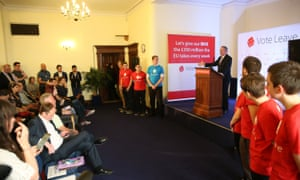 Liam Fox speaks at a Vote Leave event