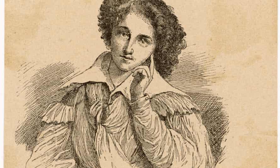 Sketch portrait of the adventurer Lady Hester Stanhope.