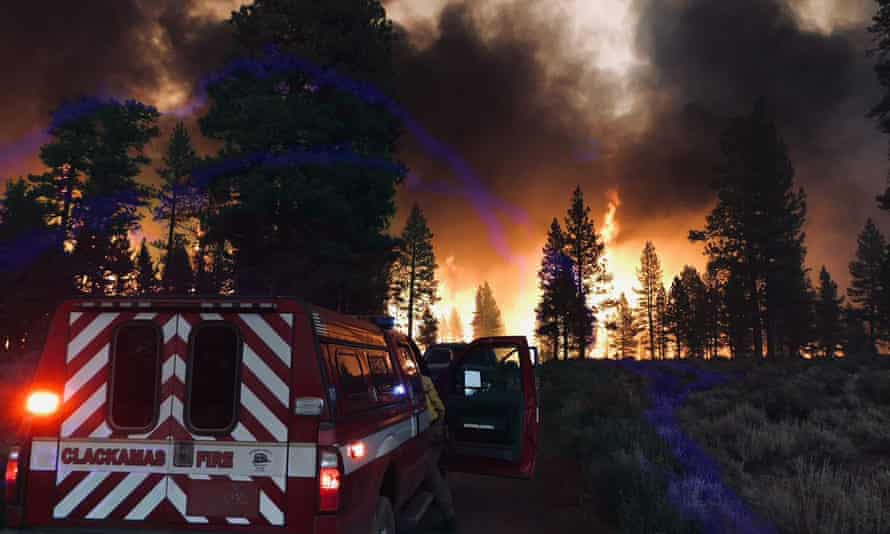 The Bootleg fire in Fremont-Winema national forest, Oregon