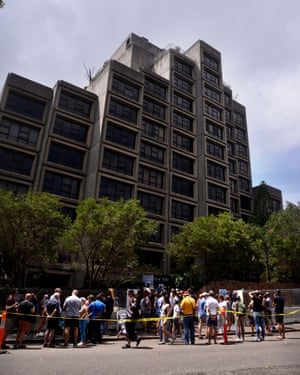 The Sirius building is seen during Saturday's farewell event in Sydney