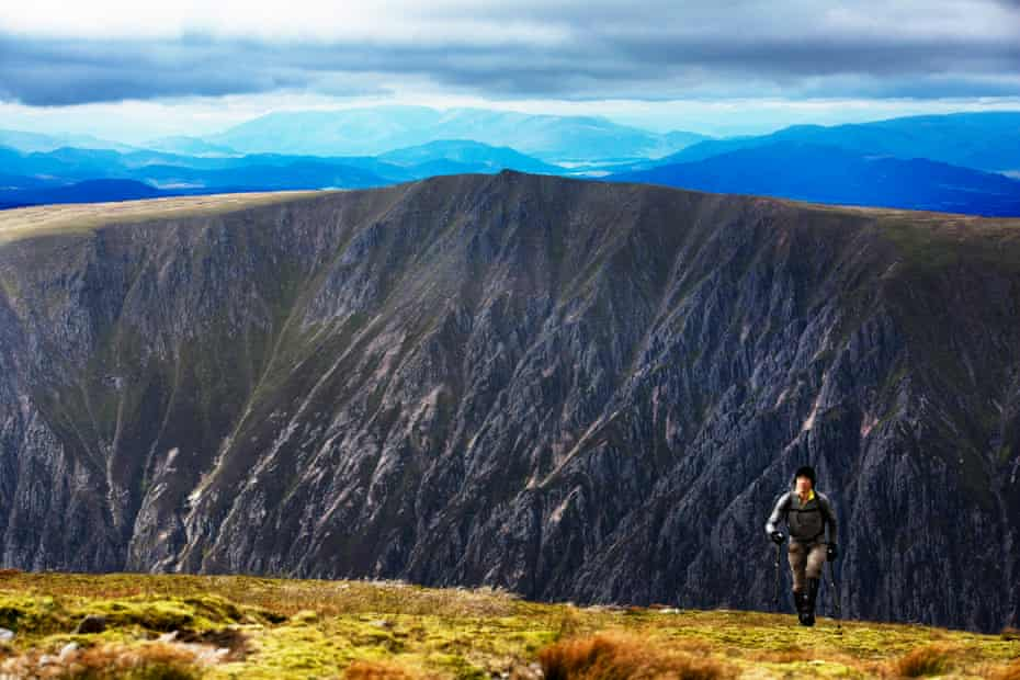 Scotland's most isolated corrie, Garbh Choire Mor, on the side of Braeriach, the county's third highest mountain.