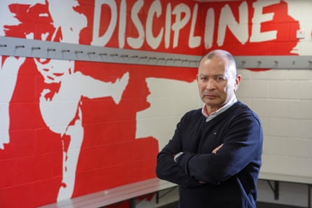 Eddie Jones, pictured in a dressing room at Twickenham, says the Six Nations will be the only opportunity in 2017 to play his strongest side.