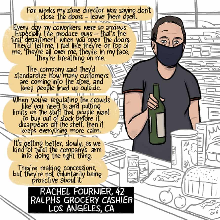 Rachel Fournier, Ralphs grocery cashier