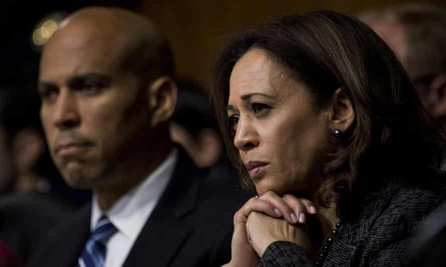 Cory Booker and Kamala Harris have been making a very different pitch of late – on Wall Street.