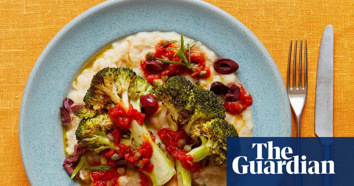 Thomasina Miers' recipe for roast broccoli and white bean puttanesca