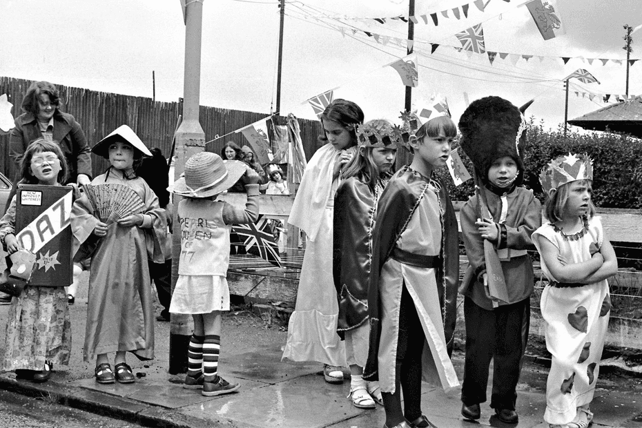 Kings and queens for a day … Silver Jubilee, Newport, 1977.