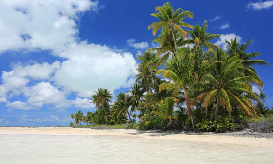 Christmas Island, Kiribati, is the world's largest coral atoll.