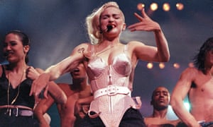 Madonna on the Blond Ambition tour, 4 June 1990.