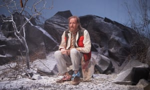 Rhys Ifans in On Bear Ridge, a co-production of National Theatre Wales and the Royal Court.