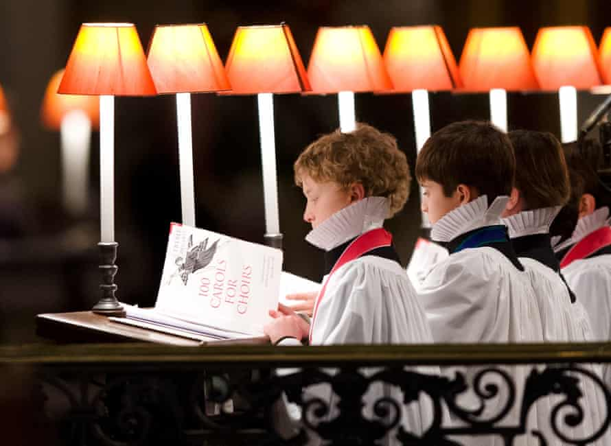 The St Paul's Cathedral choir during the Christmas carol service, 23 December 2012.