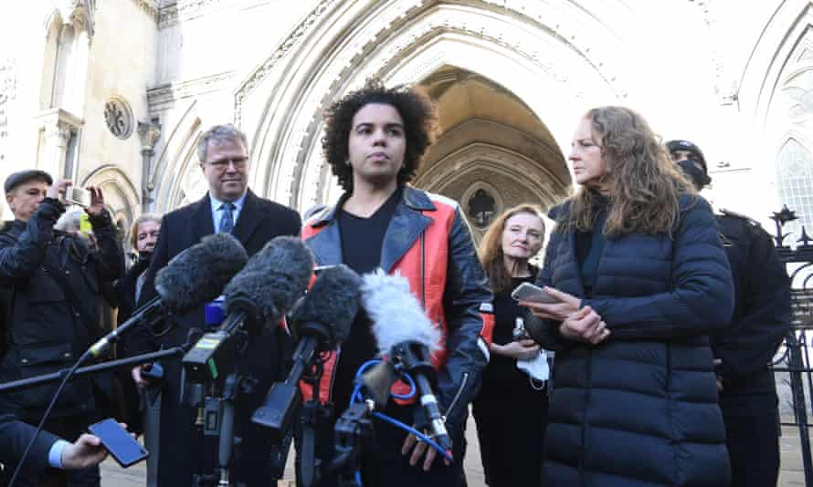 Keira Bell outside the London courts in December 2020