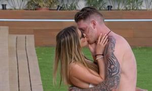 Camilla and Craig kiss in ITV2 show Love Island.