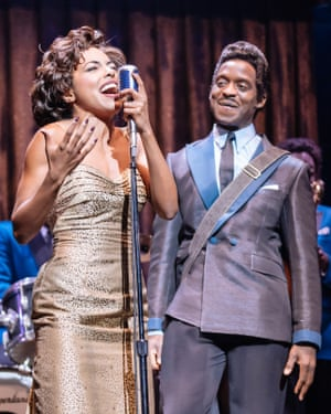 Adrienne Warren (Tina Turner) and Kobna Holdbrook-Smith (Ike Turner)