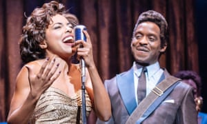 Kobna Holdbrook-Smith, right, with Adrienne Warren in Tina at the Aldwych theatre.